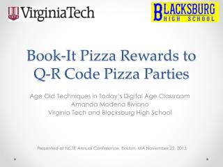 Book-It Pizza Rewards to Q-R Code Pizza Parties