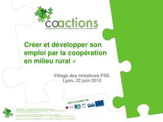 Créer et développer son emploi par la coopération en milieu rural »