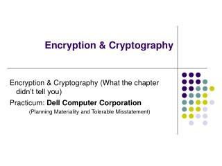 Encryption & Cryptography