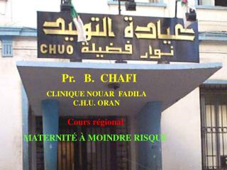 Pr. B. CHAFI