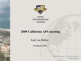 2009 California APS meeting