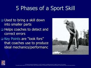 5 Phases of a Sport Skill