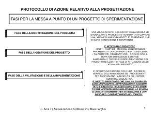 PROTOCOLLO DI AZIONE RELATIVO ALLA PROGETTAZIONE