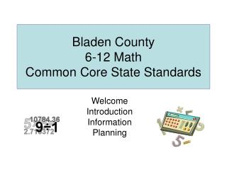 Bladen County 6-12 Math Common Core State Standards