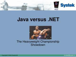 Java versus .NET