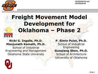 Freight Movement Model Development for Oklahoma – Phase 2