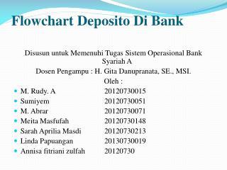 Flowchart  Deposito  Di Bank