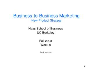 Business-to-Business Marketing New Product Strategy