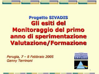 Progetto SIVADIS Gli esiti del Monitoraggio del primo anno di sperimentazione