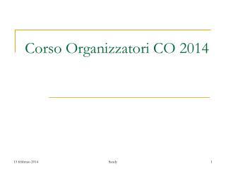 Corso Organizzatori CO 2014