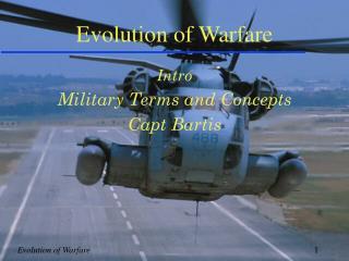 Evolution of Warfare