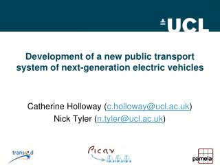 Development of a new public transport system of next-generation electric vehicles