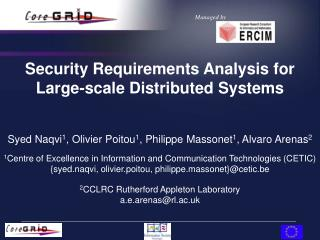 Security Requirements Analysis for Large-scale Distributed Systems