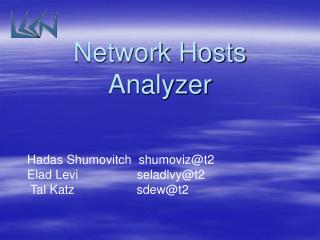 Network Hosts Analyzer