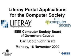 Liferay Portal Applications for the Computer Society