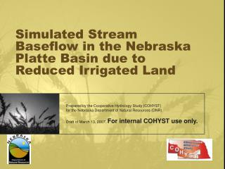 Simulated Stream Baseflow in the Nebraska Platte Basin due to Reduced Irrigated Land