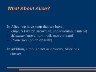 What About Alice?