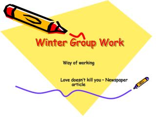 Winter Group Work