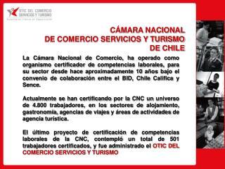 CÁMARA NACIONAL DE COMERCIO SERVICIOS Y TURISMO DE CHILE
