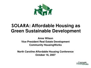 SOLARA : Affordable Housing as Green Sustainable Development