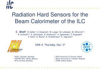 Radiation Hard Sensors for the Beam Calorimeter of the ILC