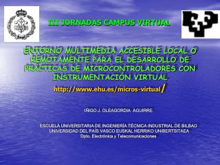 III JORNADAS CAMPUS VIRTUAL