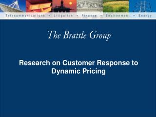 Research on Customer Response to Dynamic Pricing