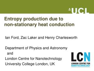 Entropy production due to  non-stationary heat conduction