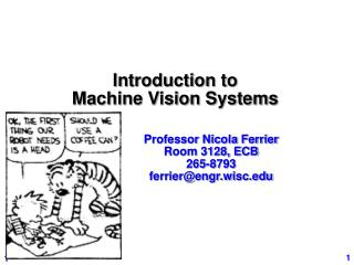 Introduction to Machine Vision Systems