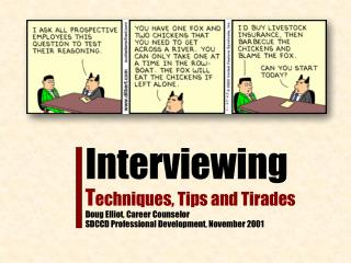 What it's about…  Preparation and Planning  Interviewing – Questions Making an Impression