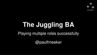 The Juggling BA