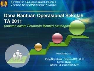Kementerian Keuangan Republik Indonesia Direktorat Jenderal Perimbangan Keuangan