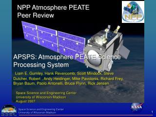 NPP Atmosphere PEATE Peer Review