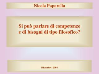 Nicola Paparella