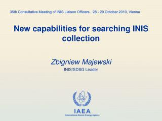 New capabilities for searching INIS collection