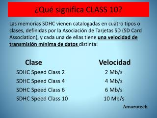 ¿Qué significa CLASS 10?