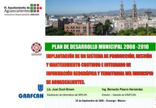 PLAN DE DESARROLLO MUNICIPAL 2008 -2010