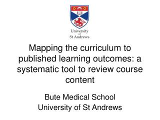 Mapping the curriculum to published learning outcomes: a systematic tool to review course content