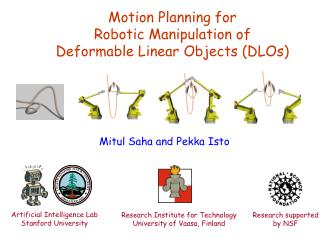Motion Planning for  Robotic Manipulation of  Deformable Linear Objects (DLOs)