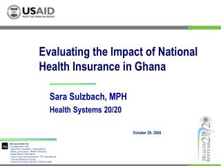 Evaluating the Impact of National Health Insurance in Ghana