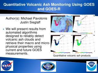 Quantitative Volcanic Ash Monitoring Using GOES and GOES-R