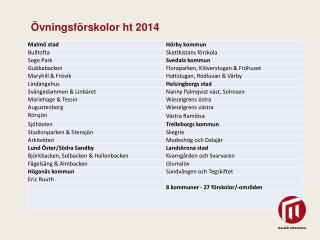 Ö vningsförskolor ht 2014