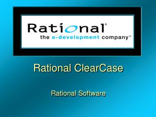Rational ClearCase Rational Software