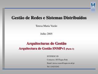 Gestão de Redes e Sistemas Distribuídos