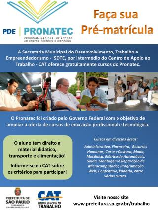 Visite nosso site prefeitura.sp.br/trabalho