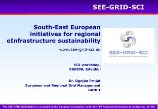 South-East European initiatives for regional eInfrastructure sustainability