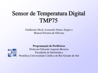 Sensor de Temperatura Digital TMP75