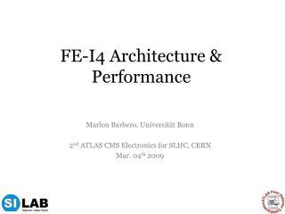 FE-I4 Architecture & Performance