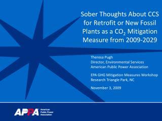 Theresa Pugh Director, Environmental Services American Public Power Association