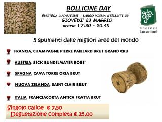 BOLLICINE DAY